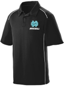 NOMS Baseball Textured knit wicking polo Aug 5091
