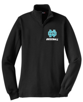 NOMS Baseball Ladies 9 ounce 1/4 zip sweatshirt LST253