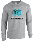 NOMS Baseball Long Sleeve 50/50 blend T-shirt 2400