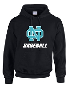 NOMS Baseball Hooded sweatshirt 50/50 blend G18500