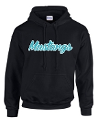 NOMS Mustangs Hooded sweatshirt 50/50 blend G18500