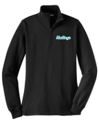 NOMS Mustangs Ladies 9 ounce 1/4 zip sweatshirt LST253