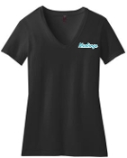 NOMS Mustangs LADIES CUT 50/50 blend V neck DM1190L