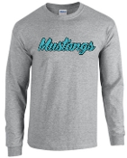 NOMS Mustangs Long Sleeve 50/50 blend T-shirt 2400