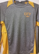 PB Long sleeve Heather Gold City Tshirt