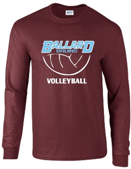 Ballard Volleyball spirit Long Sleeve T shirt G2400