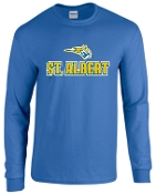 St. Albert Long sleeve Royal Blue T shirt G2400