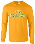 St. Albert Long sleeve Gold T shirt G2400