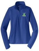 St. Albert spirit Ladies Royal blue 1/2 zip  pullover LST850