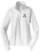 St. Albert spirit Ladies White 1/2 zip stretch pullover LST850