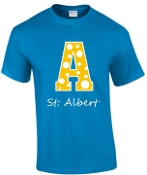 St. Albert spirit Polka Dots Royal Blue T-shirt G500L