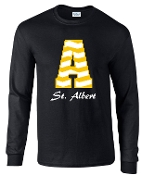 St. Albert Long sleeve Black Chevron T shirt G2400