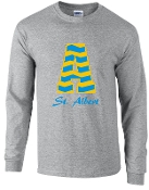 St. Albert Long sleeve Gray Chevron T shirt G2400