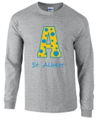 St. Albert Long sleeve Gray Polka Dots T shirt G2400