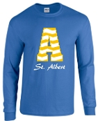 St. Albert Long sleeve Royal Chevron T shirt G2400