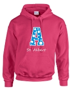 St. Albert Polka Dots Hooded sweatshirt Gildan G185