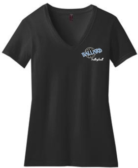 Ballard Volleyball LADIES CUT 50/50 blend V neck DM1190L