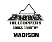 Barret CC car decal with runner name included