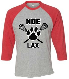 Noe Middle Lax Adult Heather Red long sleeve tshirt 6930