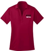 Meyzeek Baseball Ladies Red Moisture wicking polo L540