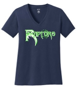 Highview Raptors Womens V neck cotton Tshirt LPC450V