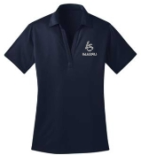 Louisville Storm Womens Navy Moisture wicking polo L540