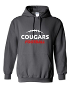 Noe Middle Football Hooded Charcoal sweatshirt 50/50 blend G185