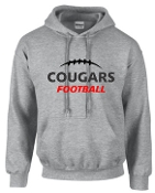 Noe Middle Football Hooded Sport Gray sweatshirt G185