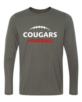 Noe Middle Football Long Sleeve Charcoal T-shirt G424