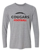 Noe Middle Football Long Sleeve Sport Gray T-shirt G424