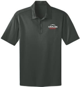 Noe Middle Football Mens Steel Gray Moisture wicking polo K540