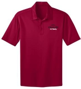 Noe Middle Football Mens Red Moisture wicking polo K540