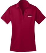 Noe Middle Football Womens Red Moisture wicking polo L540