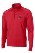 Noe Middle Football Mens Red 1/2 zip  pullover ST850