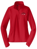 Noe Middle Football Ladies Red 1/2 zip  pullover LST850