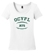 OCYFL Jets Ladies White scoop neck DM106L