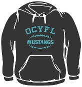 OCYFL Mustangs Hooded sweatshirt G185