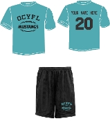 OCYFL Mustangs Player pack shirt and shorts ST 350/355