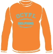 OCYFL Dolphins Long Sleeve T shirt G540