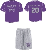 OCYFL Ravens Player pack shirt and shorts ST 350/355