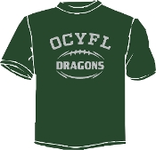 OCYFL Dragons T shirt G8000