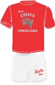 OCYFL Chiefs Cheer pack shirt and shorts G8000/M037