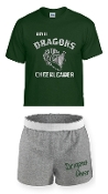 OCYFL Dragons Cheer pack shirt and shorts G8000/M037