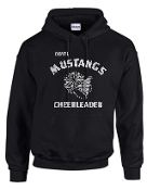 OCYFL Mustangs Cheerleader Hooded sweatshirt G185