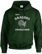 OCYFL Dragons Cheerleader Hooded sweatshirt G185