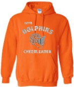 OCYFL Dolphins Cheerleader Hooded sweatshirt G185