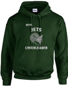 OCYFL Jets Cheerleader Hooded sweatshirt G185