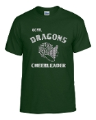 OCYFL Dragons Cheerleader T shirt G8000