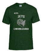 OCYFL Jets Cheerleader T shirt G8000