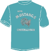 OCYFL Mustangs Cheerleader T shirt G8000
